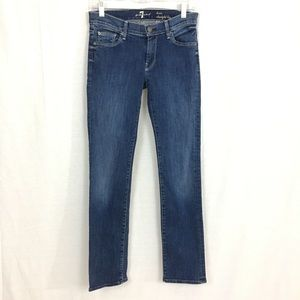 7 For All Mankind Lexie Straight Leg Blue Jean